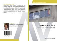 Capa do livro de Der Mauerbau 1961