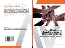Copertina di Social Media unter Berücksichtigung der Neurokommunikation