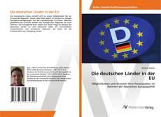 Capa do livro de Die deutschen Länder in der EU