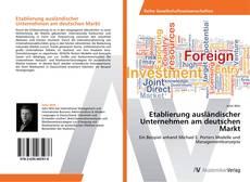 Capa do livro de Etablierung ausländischer Unternehmen am deutschen Markt