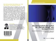 """Die Zerrissenheit des Selbst im """"Tod des Vergil"""" von Hermann Broch kitap kapağı"""
