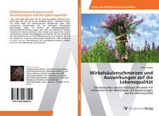 Buchcover von Wirbelsäulenschmerzen und Auswirkungen auf die Lebensqualität