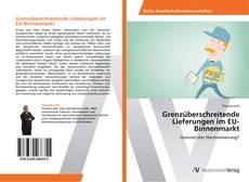 Capa do livro de Grenzüberschreitende Lieferungen im EU-Binnenmarkt