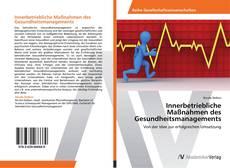 Capa do livro de Innerbetriebliche Maßnahmen des Gesundheitsmanagements