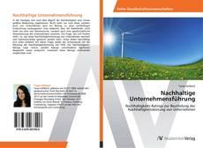 Nachhaltige Unternehmensführung kitap kapağı