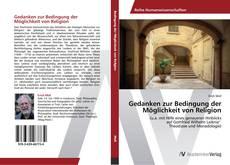 Buchcover von Gedanken zur Bedingung der Möglichkeit von Religion