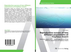 Copertina di Reproductive success of two different populations of Tropheus moorii