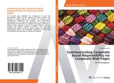 Bookcover of Communicating Corporate Social Responsibility via Corporate Web Pages