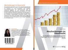 Capa do livro de Abschreibungen im Steuerrecht