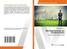 Borítókép a  Die Regulierung des Insiderhandels - hoz