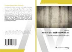 Capa do livro de Poesie des rechten Winkels