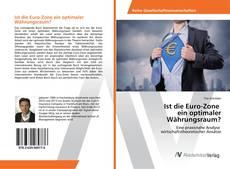 Bookcover of Ist die Euro-Zone ein optimaler Währungsraum?