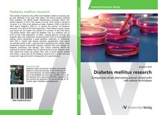 Portada del libro de Diabetes mellitus research