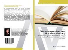 Übersetzungsanalyse einer Literaturübersetzung kitap kapağı