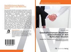 Capa do livro de Geschäftschancen deutscher Unternehmen in den Baltischen Staaten