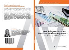 Buchcover von Das Anlegerschutz- und Funktionsverbesserungsgesetz