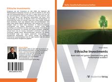 Bookcover of Ethische Investments