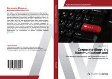 Buchcover von Corporate Blogs als Kommunikationstool