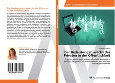 Der Bedeutungszuwachs des Privaten in der Öffentlichkeit kitap kapağı