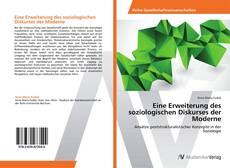 Portada del libro de Eine Erweiterung des soziologischen Diskurses der Moderne