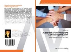 Bookcover of Gesellschaftsvertragliche Abfindungsklauseln