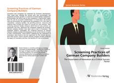 Обложка Screening Practices of German Company Builders