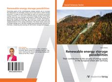 Bookcover of Renewable energy storage possibilities