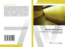 Bookcover of Poetik des Grauens