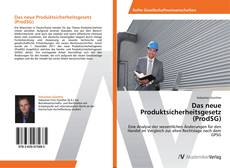 Das neue Produktsicherheitsgesetz (ProdSG) kitap kapağı