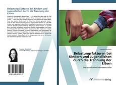 Bookcover of Belastungsfaktoren bei Kindern und Jugendlichen durch die Trennung der Eltern