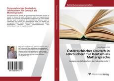 Buchcover von Österreichisches Deutsch in Lehrbüchern für Deutsch als Muttersprache