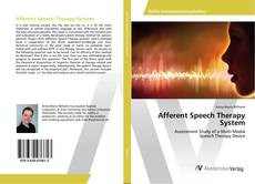 Buchcover von Afferent Speech Therapy System