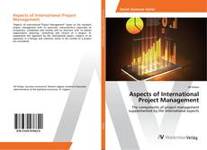 Couverture de Aspects of International Project Management