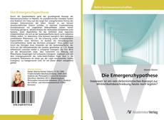 Обложка Die Emergenzhypothese