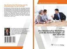 Buchcover von Das Relationship Marketing und die Anforderungen an den Vertrieb