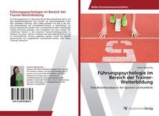 Portada del libro de Führungspsychologie im Bereich der Trainer-Weiterbildung
