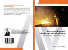 Buchcover von Wertschöpfung der deutschen Metallindustrie