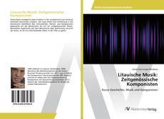 Litauische Musik: Zeitgenössische Komponisten kitap kapağı