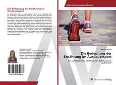 Capa do livro de Die Bedeutung der Ernährung im Ausdauersport