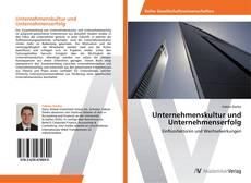 Portada del libro de Unternehmenskultur und Unternehmenserfolg