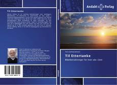 Til Ettertanke kitap kapağı