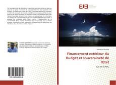 Copertina di Financement extérieur du Budget et souveraineté de l'Etat