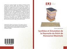 Capa do livro de Synthèse et Simulation de la Poursuite du Point de Puisssance Maximale