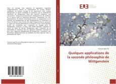 Обложка Quelques applications de la seconde philosophie de Wittgenstein