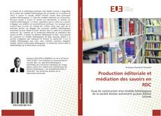 Capa do livro de Production éditoriale et médiation des savoirs en RDC