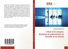 Capa do livro de L'État et le citoyen. Analyses et expériences au Canada et en Suisse