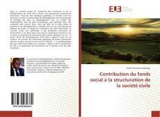 Buchcover von Contribution du fonds social à la structuration de la société civile