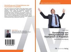 Buchcover von Darstellung von Erfolgsfaktoren der Teamarbeit in Projekten