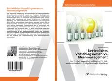 Buchcover von Betriebliches Vorschlagswesen vs. Ideenmanagement