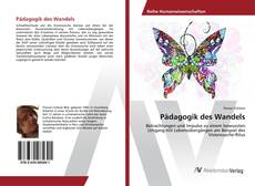 Capa do livro de Pädagogik des Wandels